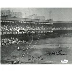 Ralph Branca  Bobby Thomson Signed 8x10 Photo (JSA Hologram)