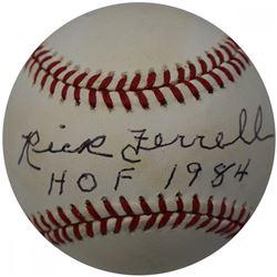 "Rick Ferrell Signed ONL Baseball Inscribed ""HOF 1984"" (JSA Hologram)"