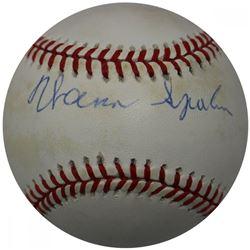 Warren Spahn Signed ONL Baseball (JSA Hologram)