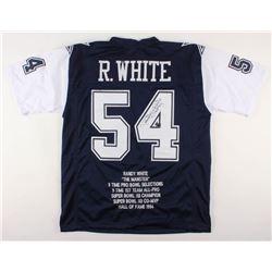"Randy White Signed Dallas Cowboys Career Highlight Stat Jersey Inscribed ""HOF 94"" (JSA COA)"