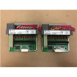 (2)Allen Bradley 1746-0A16 Output Module