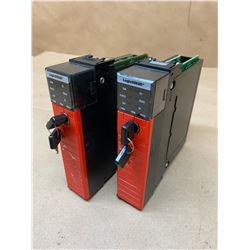 (2) Allen-Bradley 1756-L62S B Guardlogix 5562S Processor
