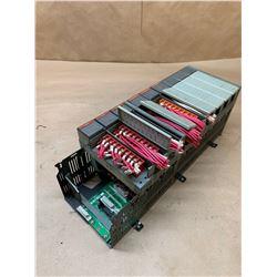 Allen-Bradley 1746-A10 SLC 500 10-Slot Rack w/ 9 I/O Modules