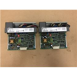 (2) Allen Bradley 1746-NI04V Analog Combination I/O Module