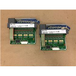 (2) Allen Bradley 1746-1B16 Input Module