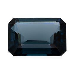 29.74 ct. Natural Emerald Cut London Blue Topaz