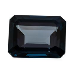 34.21 ct. Natural Emerald Cut London Blue Topaz