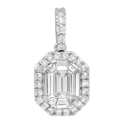 14k Gold 0.69CTW Diamond Pendant, (VS2-SI1/G-H)
