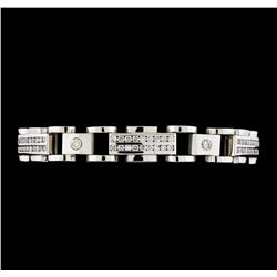 5.28 ctw Diamond Bracelet - 14KT White Gold