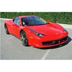 2010 Red Ferrari 458 Italia