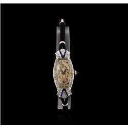 Zila Platinum Diamond Vintage Ladies Watch