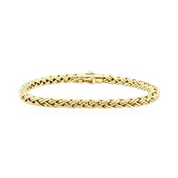 Tiffany and Company Golden Weave Wheat Chain Bracelet - 18KT Yellow Gold