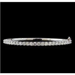 14KT White Gold 3.12 ctw Diamond Bangle Bracelet