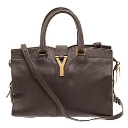 Yves Saint Laurent YSL Gray Sheepskin Leather Mini Cabas ChYc Bag