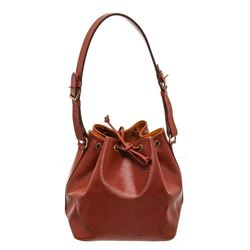 Louis Vuitton Sienna Epi Leather Noe PM Drawstring Shoulder Bag