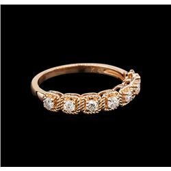 0.35 ctw Diamond Ring - 14KT Rose Gold