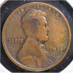 1914-D LINCOLN CENT, FINE