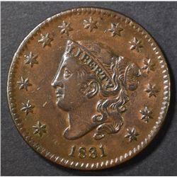 1831 LARGE CENT AU