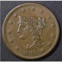 1840 LARGE CENT CH AU