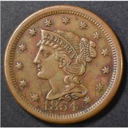 1854 LARGE CENT AU