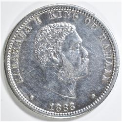 1883 HAWAII QUARTER AU +