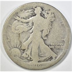 1916-S WALKING LIBERTY HALF DOLLAR GOOD