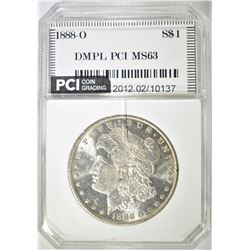 1888-O MORGAN DOLLAR   PCI CH BU DMPL