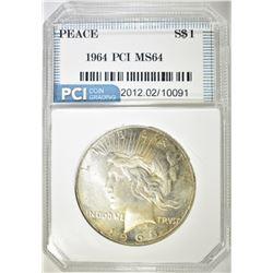 1965 PEACE DOLLAR  PCI CH/GEM BU