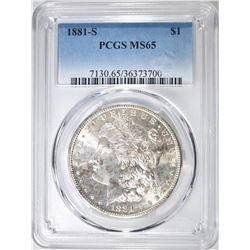 1881-S MORGAN DOLLAR   PCGS MS-65