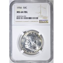1956 FRANKLIN HALF DOLLAR  NGC MS-64 FBL