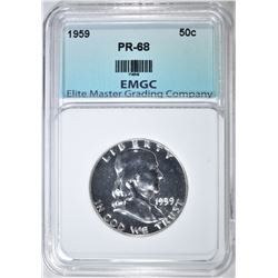 1959 FRANKLIN HALF DOLLAR   EMGC GEM PROOF