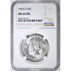 1960-D FRANKLIN HALF DOLLAR   NGC MS-64 FBL