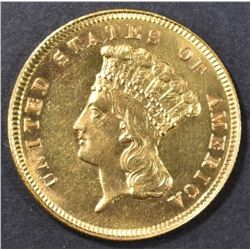 1879 $3 GOLD INDIAN PRINCESS HEAD  CH BU
