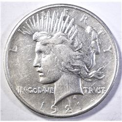 1921 PEACE DOLLAR  XF/AU