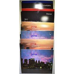 2-2010 & 1-2011 U.S. MINT UNC SETS