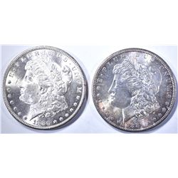 1880-S CH BU & 1881-S GEM BU MORGAN DOLLARS