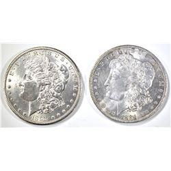 1884-O & 1898-O MORGAN DOLLARS CH BU