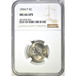 1994-P JEFFERSON NICKEL NGC MS 66 6FS