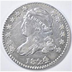 1824/2 BUST DIME  CH AU