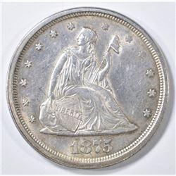 1875-S 20 CENT PIECE AU/BU