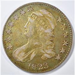 1823 CAPPED BUST HALF DOLLAR  AU