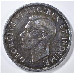 1946 SILVER DOLLAR  CANADA  VERY CH BU