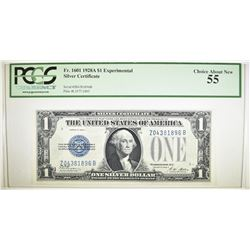 1928 A $1 SILVER CERTIFICATE PCGS 55