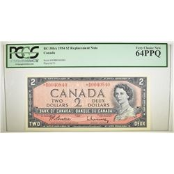 1954 $2 REPLACEMENT NOTE CANADA PCGS 64 PPQ
