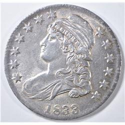 1833 BUST HALF DOLLAR  AU/BU