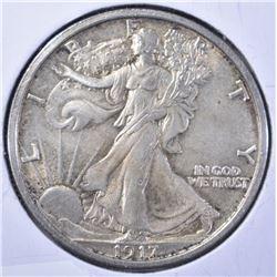 1917-S REVERSE WALKING LIBERTY HALF DOLLAR, CH BU