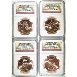 2008 FIRST SPOUSE BRONZE MEDAL SET: NGC GRADED