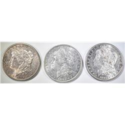 1881-O,S & 82-O MORGAN DOLLARS AU/BU