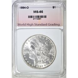 1884-O MORGAN DOLLAR, WHSG GEM BU