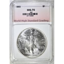 1993 AM. SILVER EAGLE, WHSG PERFECT GEM